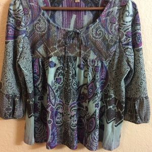 One World Live and let live Blouse.